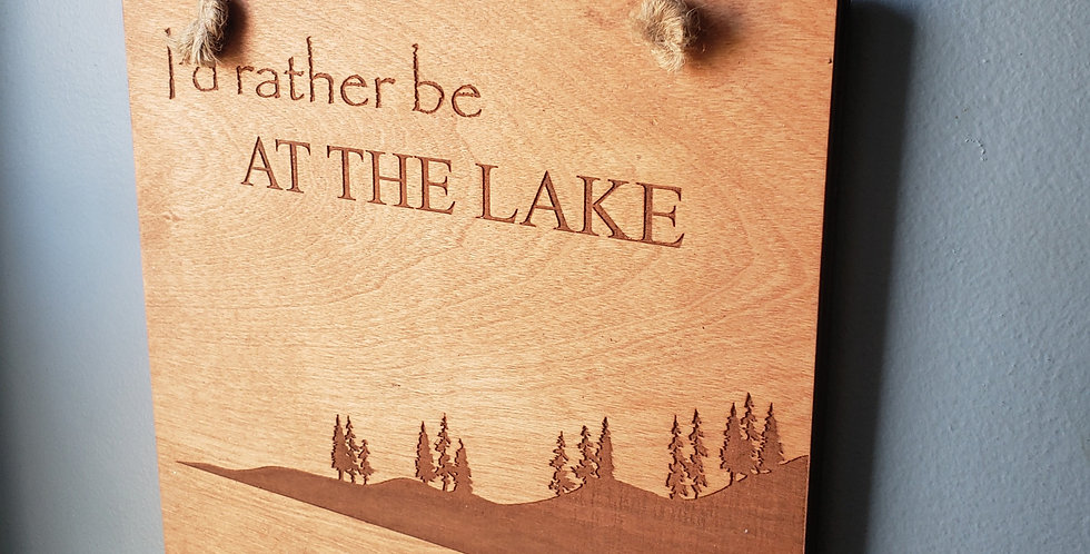 """""""At the lake"""" Wall Art"""