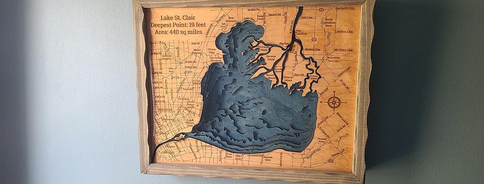Lake St Clair Bathymetric Map