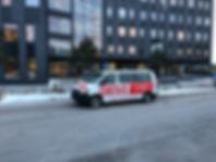 DRIVE VXOs minibuss vid Växjö Resecentrum