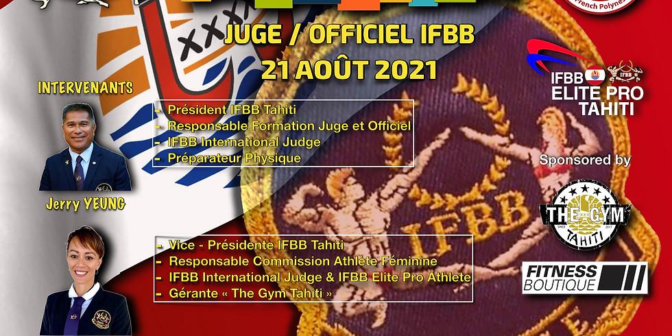 Formation Juge et Officiel IFBB 2021