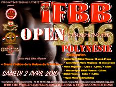 IFBB Open Polynésie 2016, les inscriptions sont ouvertes ...