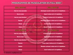 "💢 En musculation, s'entraîner en  "" Full Body "" 💢"