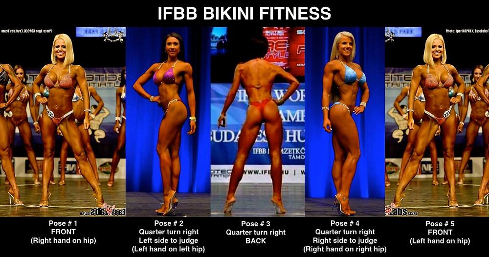 IFBB Bikini Fitness Poses