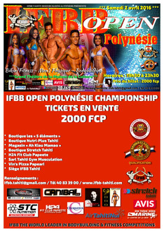 "Teaser ""IFBB Open Polynésie Championship 2016"""