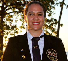 La Directrice de l'IFBB Tahiti Bodybuilding & Fitness Melle Teeeva Teauna-Carreau