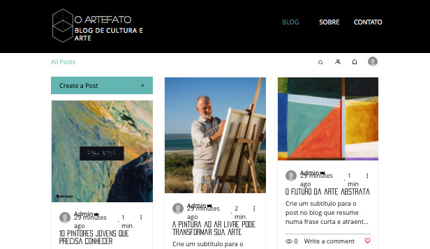 Blogs e Fóruns website templates – Blog de Arte e Cultura