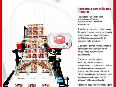 Noveltech VAC - Rotuladora para Múltiplos Produtos.