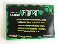Novel Ghost sua etiqueta adesiva de segu