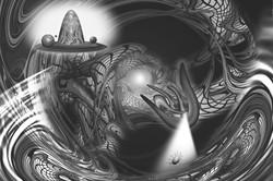 コロナウイルスを退治する弥勒 (Maitreya defeats Coronavirus), 2021
