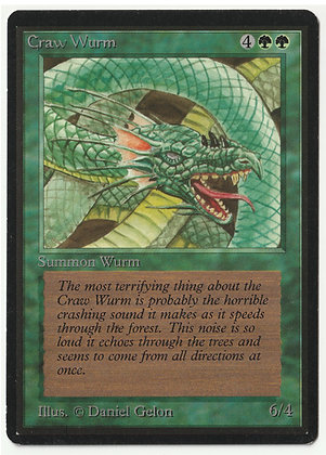 Magic: The Gathering, Craw Wurm, Beta, Near Mint (1993)