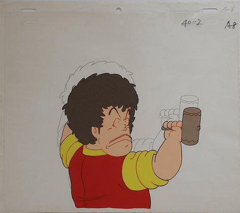 Dr. Slump, Senbei Norimaki holding a hammer (1981-1986)