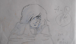 Captain Harlock's anime sketch