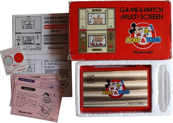 Nintendo Game & Watch Multi Screen Mickey et Donald (DM-53) (1982)