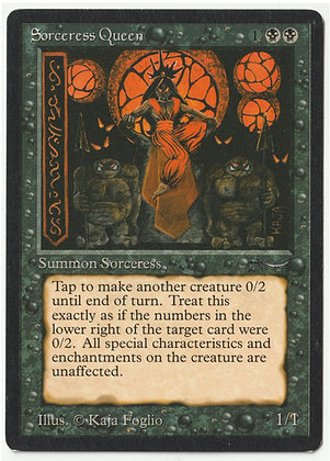 Magic: The Gathering, Sorceress Queen, Arabian Nights, Near Mint (1993)