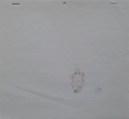 Dragon Ball, Kame Sennin, running with his stick (A8) (1986-1989)