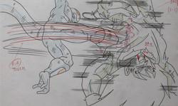 Sangoku vs. Freeza anime sketch