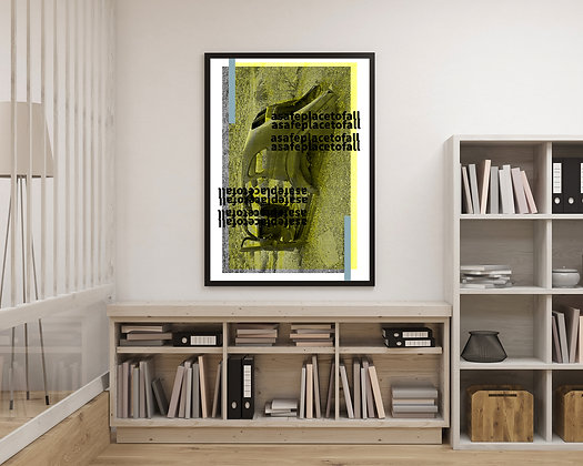 blank LosOtros | A safe place to fall (Yellow 2) (2018) | Print (70 x 100 cm)