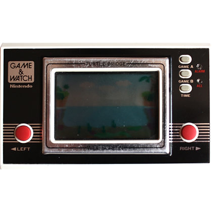 Nintendo Game & Watch Wide Screen Turtle Bridge (TL-28) (1982)
