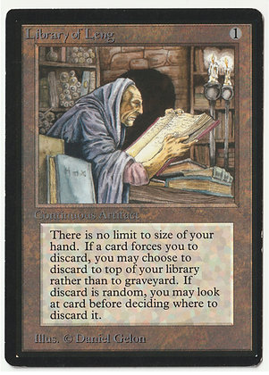 Magic: The Gathering, Library of Leng, Beta, Excellent (1993)