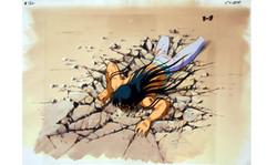 Saint Seiya's Shiryu anime cel