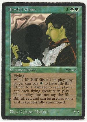 Magic: The Gathering, Ifh-Biff Efreet, Arabian Nights, Light Played (1993)