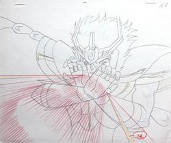 Saint Seiya's Ikki anime sketch