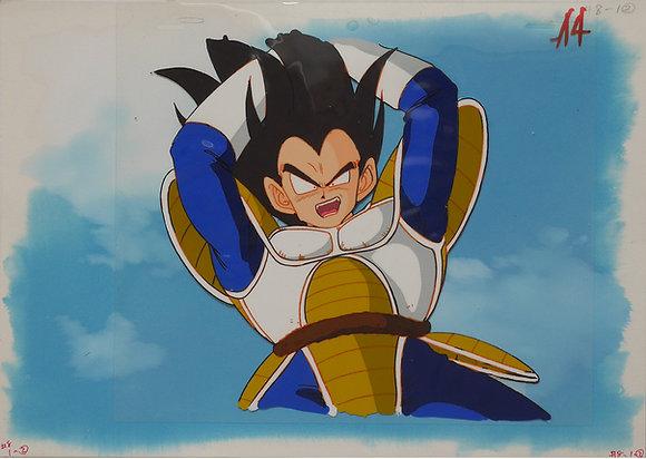 Dragon Ball Z, Vegeta preparing to attack, his Saiyajin tail around is waist (19