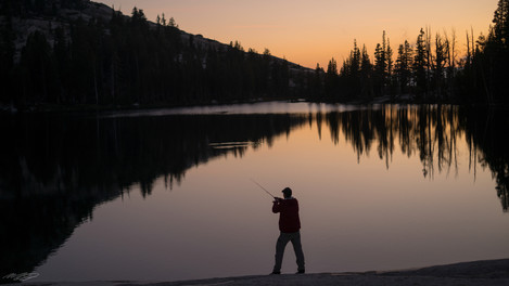 Cathedral Lake Sunset