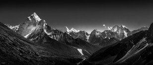 Himalayan View B&W