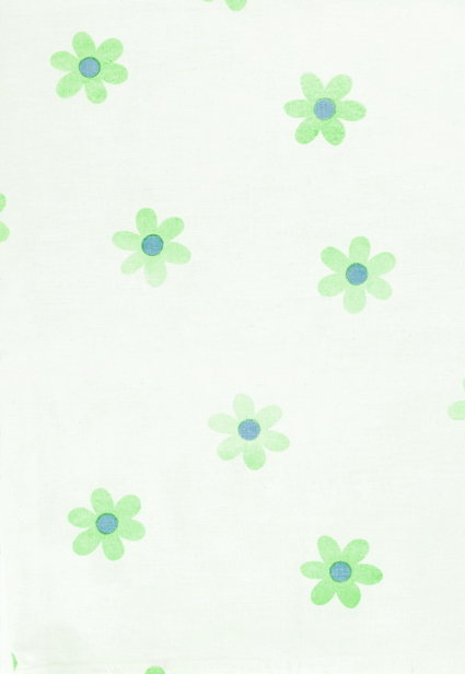 Cute Green Flower Print
