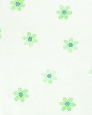 Cute Green Flower Print