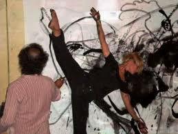 Performance danse peinture