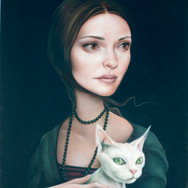 Lady With Devon Rex