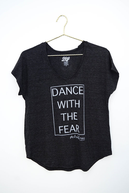 Dance with the Fear Ladies V-Neck Tee