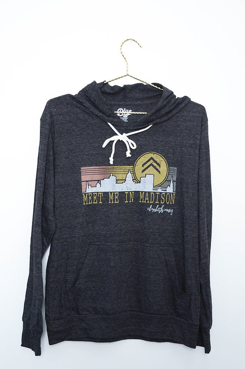 Meet Me in Madison Skyline Tri-Blend Hoodie