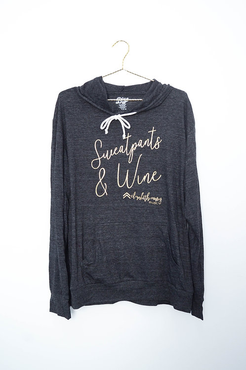 Sweatpants and Wine Lightweight T-Shirt Hoodie