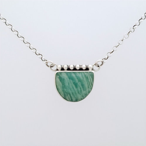 Amazonite Necklace with silver accents