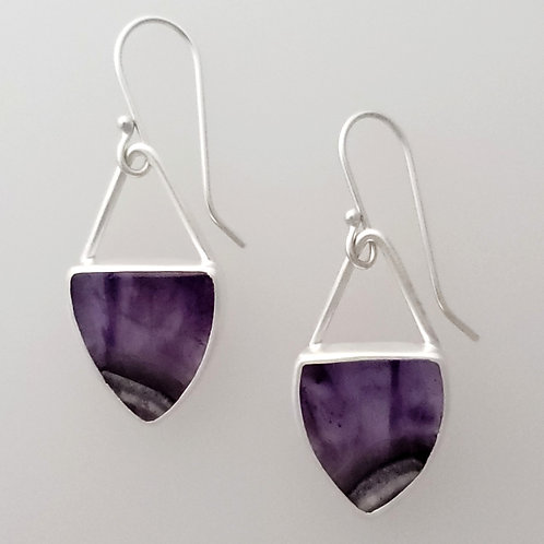Amethyst Shield Earrings