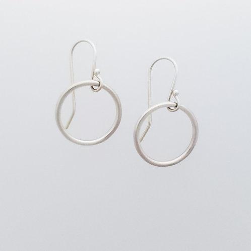 Small Silver Plain Hoop Earrings