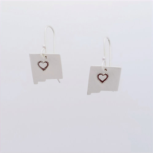 New Mexico earrings with Heart stamp