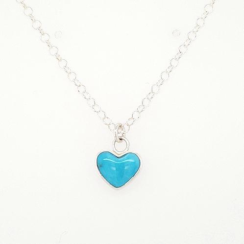 Tiny Turquoise Heart Pendant