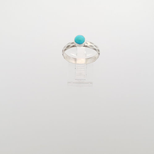 Light Blue 5mm Turquoise on a diamond pattern band