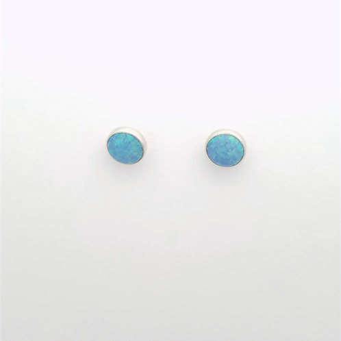 Light Blue Opal post earrings