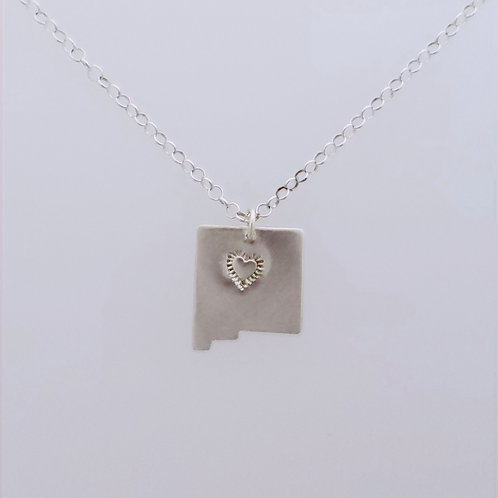 New Mexico pendant with Heart stamp