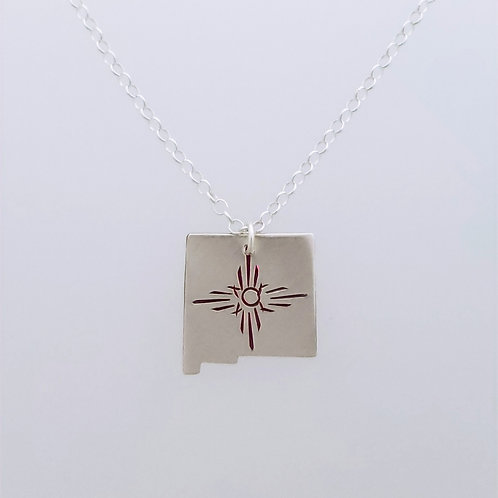 New Mexico pendant with sun ray design