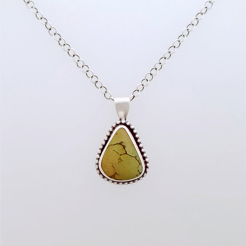 Ochre Colored Turquoise Pendant