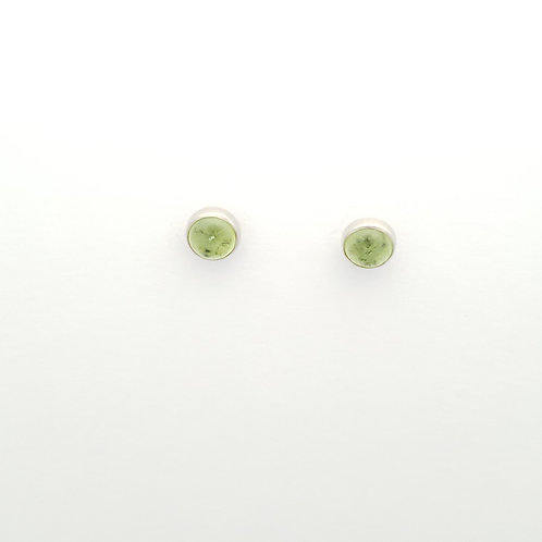 Peridot Post Earrings