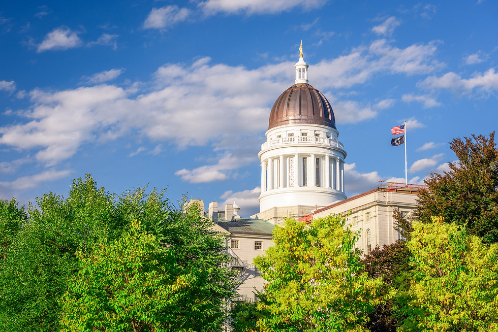The Maine State House in Augusta, Maine,