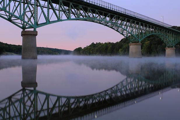 Memorial Bridge over Kennebec river in A