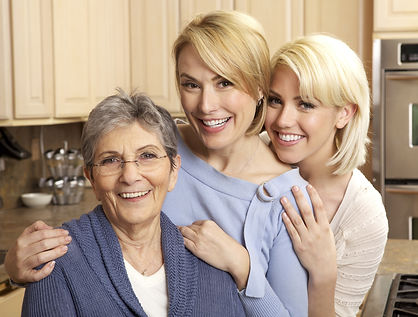 Three generations of beautiful women smi